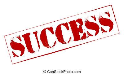 sello de goma, éxito