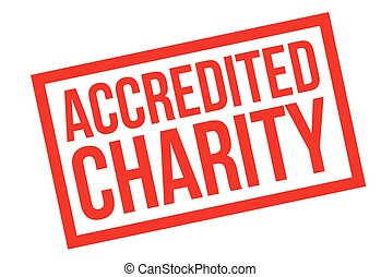 sello de goma, accredited, caridad