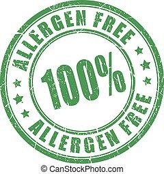 sello de goma, allergen, libre