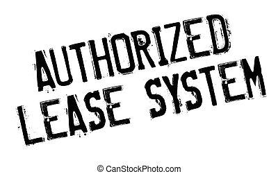 sello de goma, arriendo, sistema, autorizado