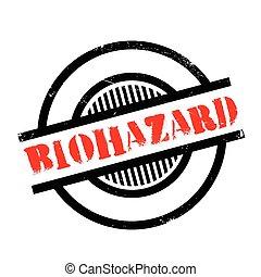 sello de goma, biohazard