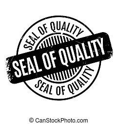 sello de goma, calidad, sello