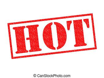 sello de goma, caliente