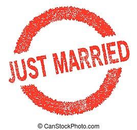 sello de goma, casado, sólo