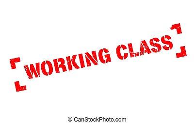 sello de goma, clase, trabajando