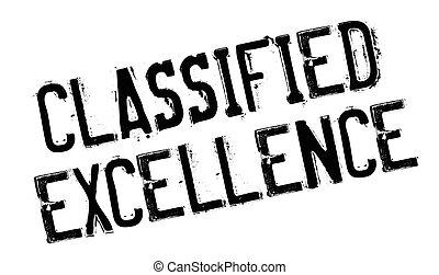 sello de goma, clasificado, excelencia