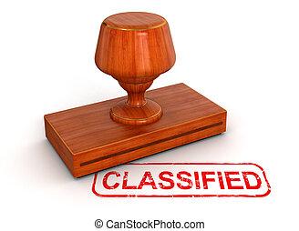 sello de goma, clasificado