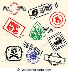 sello de goma, colección