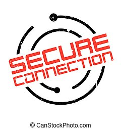 sello de goma, conexión, seguro