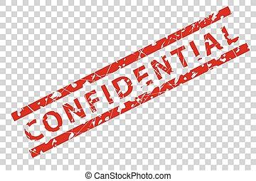 sello de goma, -, confidencial