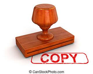sello de goma, copia