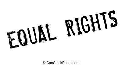 sello de goma, derechos iguales