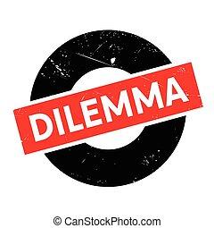 sello de goma, dilema
