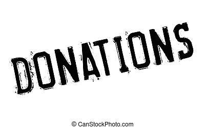 sello de goma, donaciones