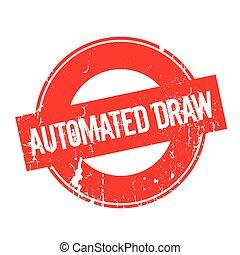 sello de goma, empate, automatizado