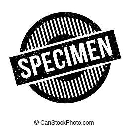 sello de goma, espécimen