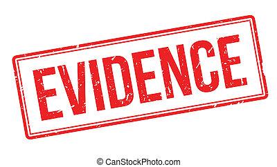 sello de goma, evidencia