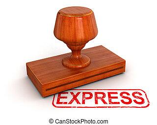 sello de goma, expreso