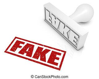 sello de goma, falsificación