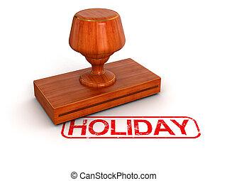 sello de goma, feriado