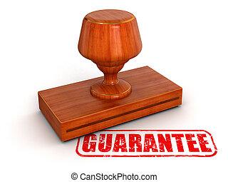 sello de goma, garantía