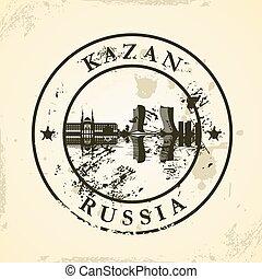 sello de goma, grunge, kazan