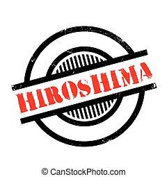 sello de goma, hiroshima