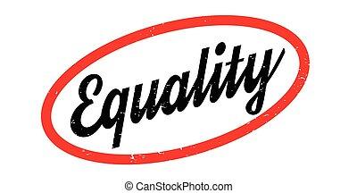 sello de goma, igualdad