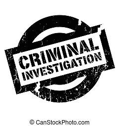 sello de goma, investigación criminal