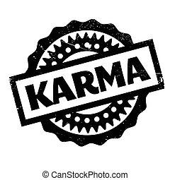 sello de goma, karma