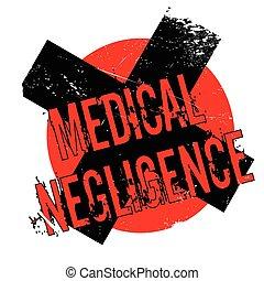 sello de goma, médico, negligencia