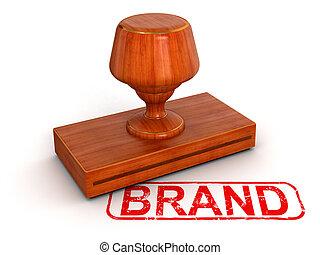 sello de goma, marca