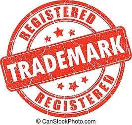 sello de goma, marca registrada