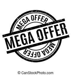 sello de goma, mega, oferta