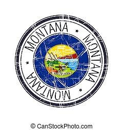 sello de goma, montana