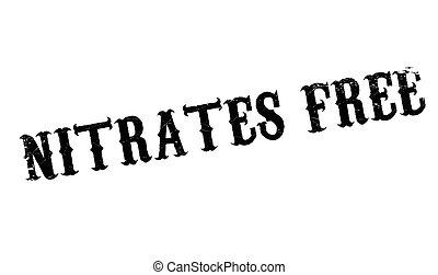 sello de goma, nitrates, libre