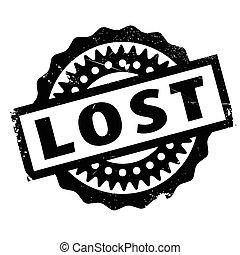 sello de goma, perdido