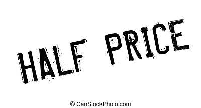 sello de goma, precio, mitad