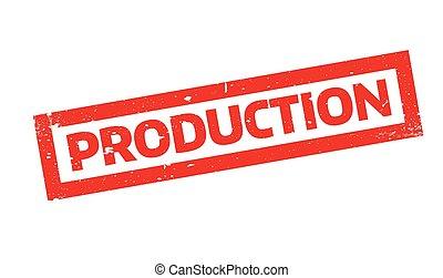 sello de goma, producción