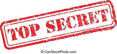 sello de goma, secreto superior
