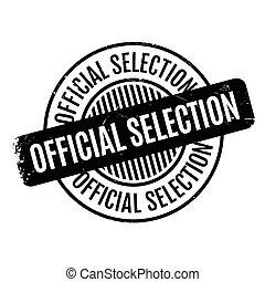 sello de goma, selección, funcionario
