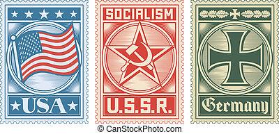 sellos, colección