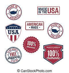 sellos, estados unidos de américa, insignias