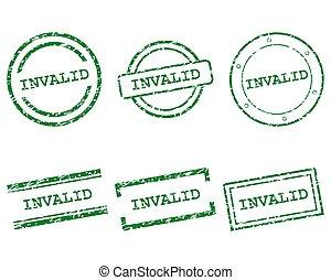 sellos, inválido