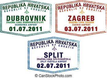sellos, pasaporte