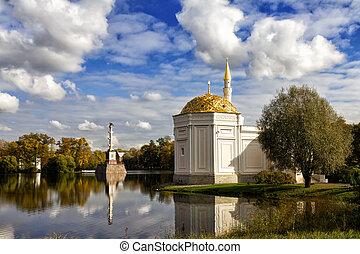 selo, 公園, トルコ語, コラム, chesme, st. 。, catherine, 浴室, tsarskoye...