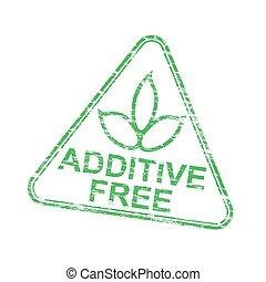 selo, aditivo, triangular, livre