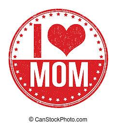 selo, amor, mãe