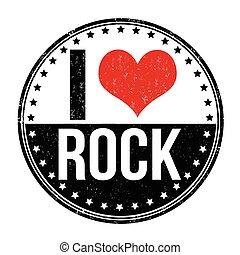 selo, amor, rocha