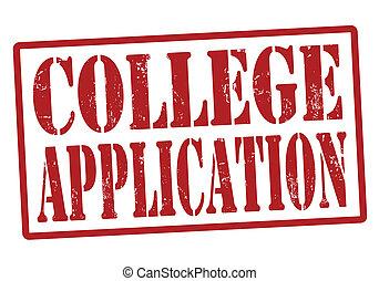 selo, aplicação, faculdade